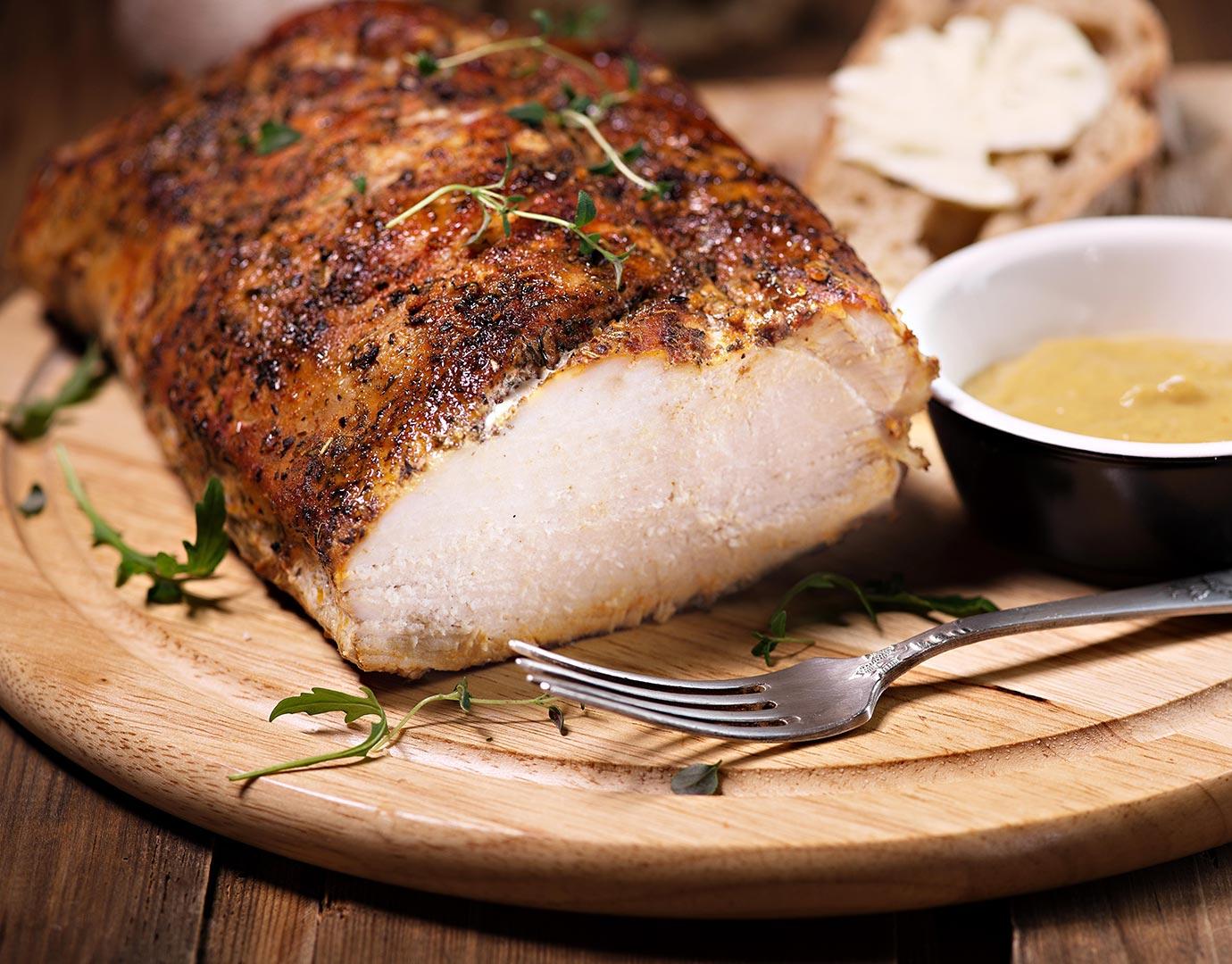 Cerdo a la mostaza